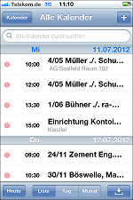RA-MICRO Termine auf Apple iPhone 4